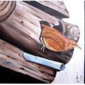 Wren;oils on canvas;40x40cm;€120