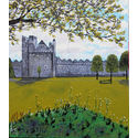 Swords castle;oils on canvas on panel;36×36 inches;for sale
