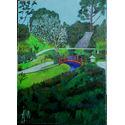 Japanese Garden;oil on canvas;70x50cm. for sale.