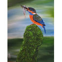 Kingfisher;16×20 inches;oil on canvas;€240