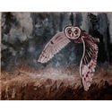 Owl in flight;oils on canvas;20×16 inches;for sale