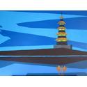 Pagoda – Irish Artist Acrylic on Canvas Paintings for Sale