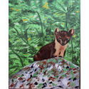 Pine Martin;oils on canvas;20×16 inches;for sale