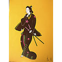 Samurai after japanese master unknown;70×50 cm;Acrylic on canvas;€400