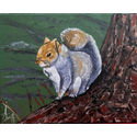 Grey squirrel;20×16 inches;oils on canvas;for sale.