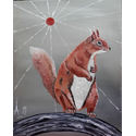 Red Squirall;oils on Canvas;20×16 inches;for sale