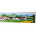 Village scene after Vincent van Gogh;46×14 inches;oil on panel.for sale